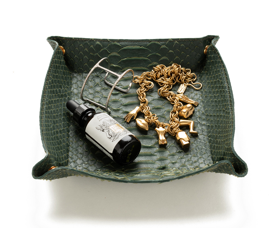 Rivers-Eight-faux-python-large-catchall-tray-in-Forest-Green-with-jewels