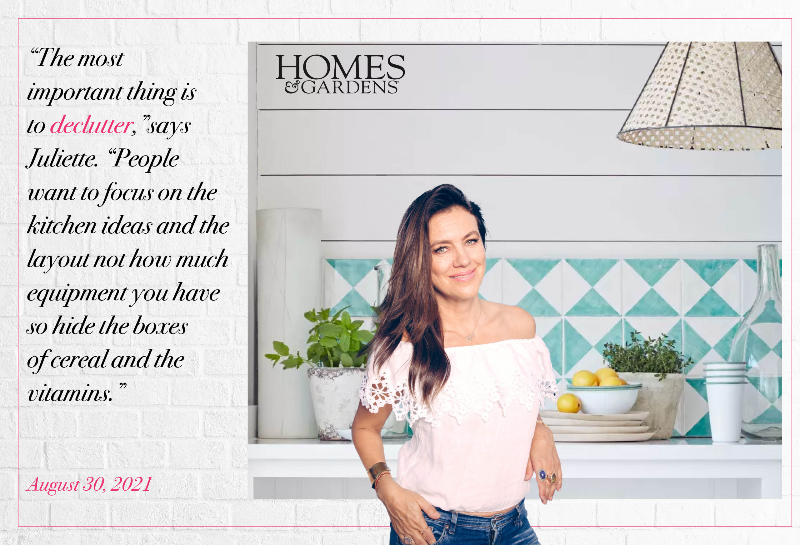 Homes & Gardens Feature Juliette Hohnen – The Secret to Staging a Kitchen – For a Quick Sale